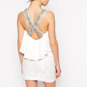 nwt asos forever unique nadine embellished dress 4